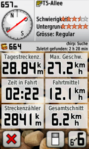 Garmin Screenshot 22.03.2011