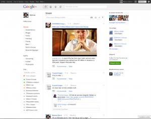 Google+ Streamansicht