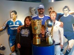 Die Familie bei den Pokalen