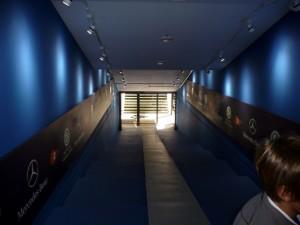 Spielertunnel in der Veltins-Arena