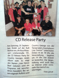 Country George CD Release Party OB Wochenanzeiger