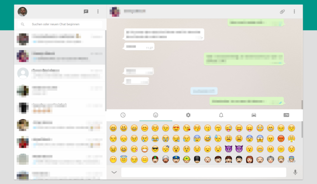 WhatsApp Web-Client Chatansicht